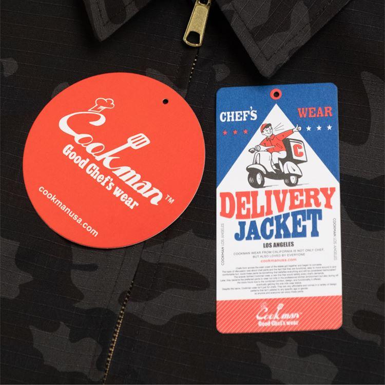 COOKMAN/クックマン デリバリージャケット Delivery Jacket Ripstop Camo Black (Woodland) (ユニセックス)カモ ブラック ウッドランドカモ 迷彩
