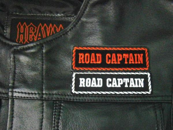 定形郵便に限り送料無料!【Hot Leathers】 MC役職パッチ 《ROAD CAPTAIN|ロードキャプテン》 刺繍パッチ 4インチ
