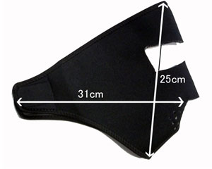 【ZAN headgear】ネオプレンフルフェイスマスク ≪LARGE≫・大顔サイズ