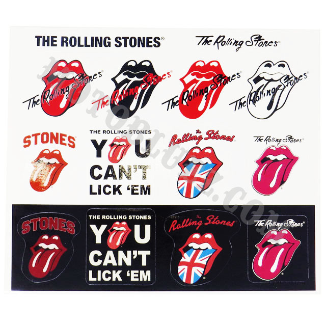 【DAMMTRAX×The Rolling Stones】 The Rolling Stones ステッカーシート (RSA04)