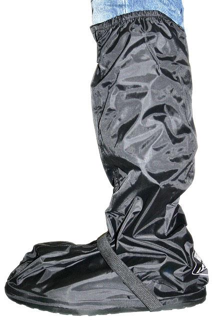 【Hot Leathers】防水ブーツレインカバー・ラバー製靴底つき