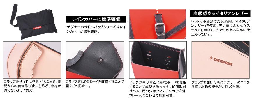 【DEGNER】レザーリジッドバッグ SB-84
