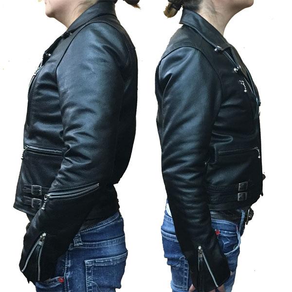 【FREEDOM】フリーダム (レディース)UKタイプ ダブルライダース レザージャケット 革ジャン