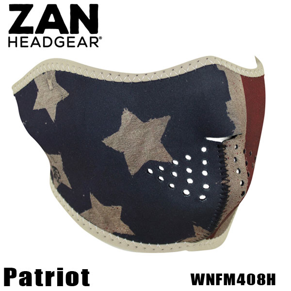 【ZAN headgear】ネオプレン ハーフフェイスマスク 『Patriot-WNFM408H』 パトリオット