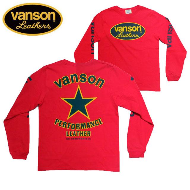 【VANSON】バンソン長袖Tシャツ「BLACK STAR」ブラックスター