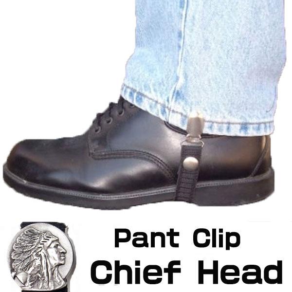 【Chain Reaction】パンツ/ブーツクリップ『Chief Head』