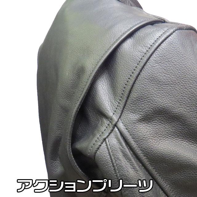 送料無料!【HEAVY】ソフトバッファローシングルライダースジャケット