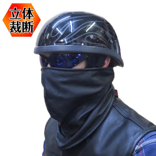 ゆうパケット送料無料!【HEAVY】3Dレザーフリースフェイスマスク  シープスキン