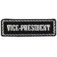 定形郵便に限り送料無料!【Hot Leathers】 MC役職パッチ 《VICE PRESIDENT|サブ プレジ・副会長》 刺繍パッチ 4インチ
