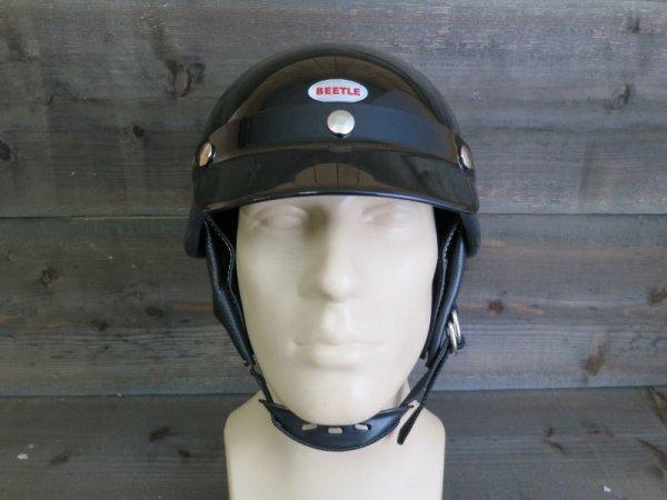 【OCEAN BEETLE】BEETLE SHORTY4 ハーフヘルメット・ブラック オーシャンビートル