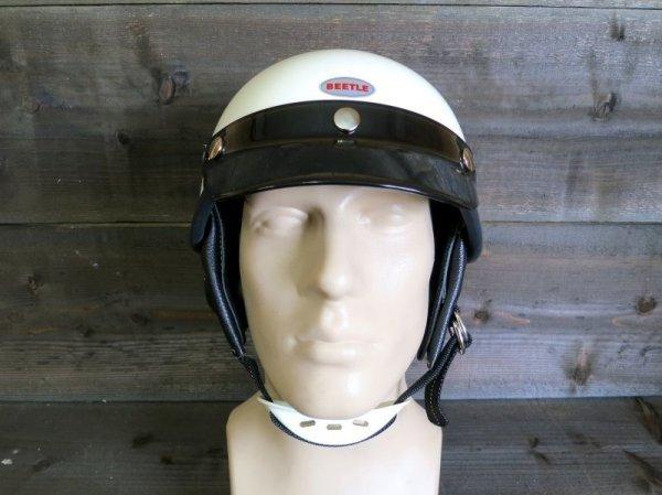 【OCEAN BEETLE】BEETLE SHORTY4 ハーフヘルメット・アイボリー オーシャンビートル