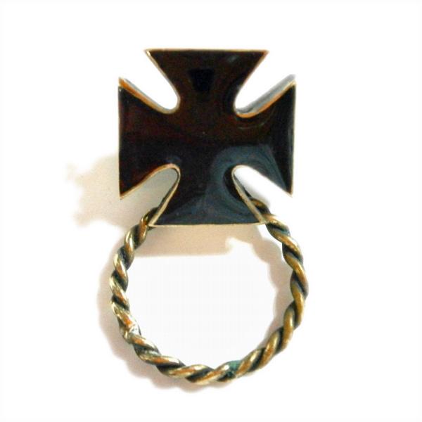 サングラスホルダー(コンチョタイプ)アイアンクロス ゴールド