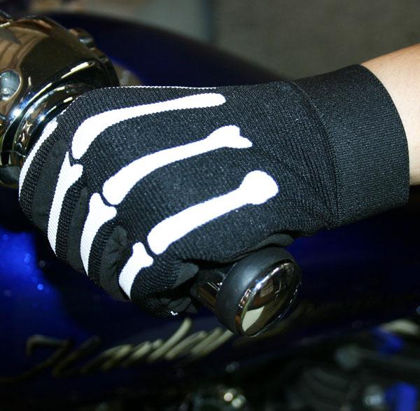 【HOT LEATHERS】 メカニックグローブ・Skeleton