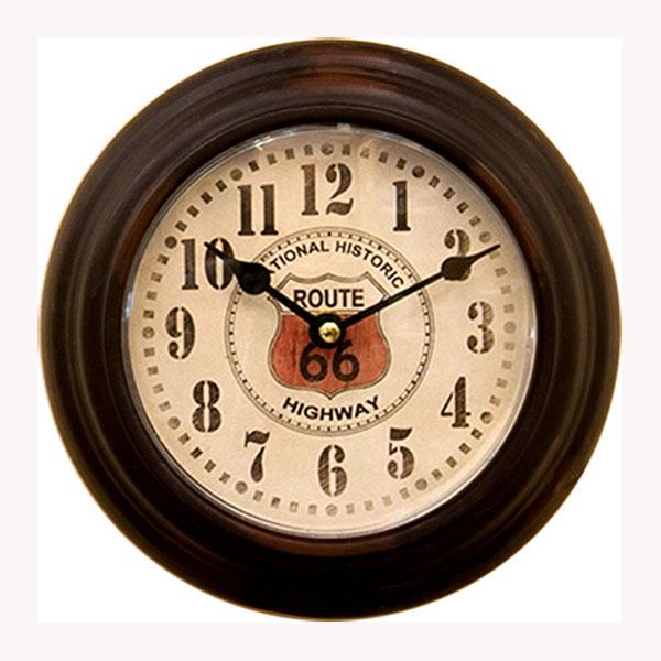 【Prestige Clock Round】レトロ調 プレステージクロック ROUTE66 掛け時計 ルート66