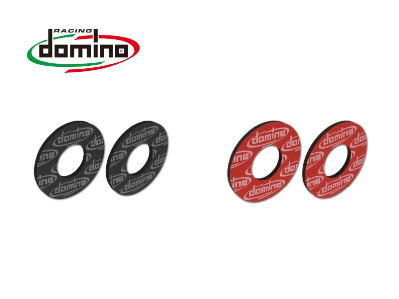 domino オフロード グリップパッド ブラック/レッド イタリア製 汎用