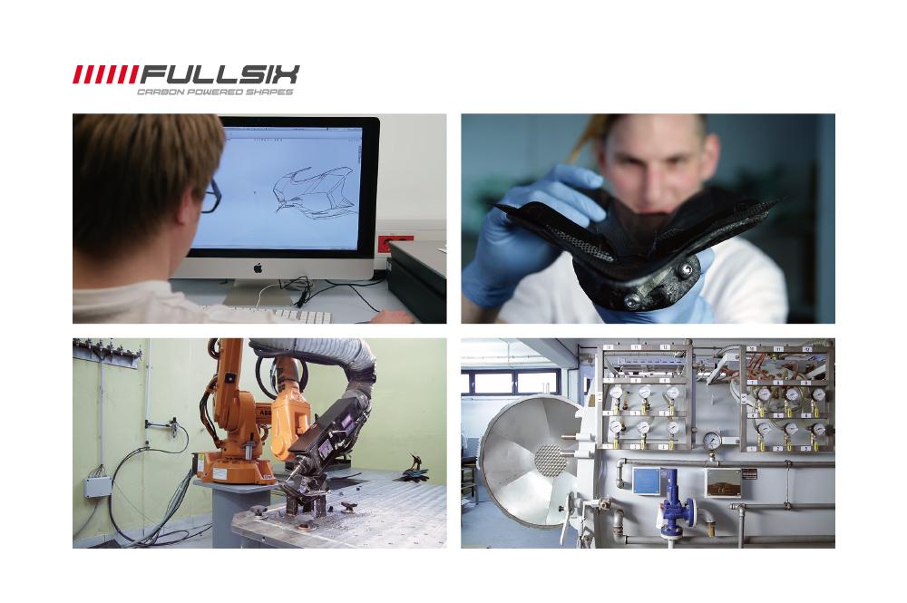 FULLSIX(フルシックス) ドライカーボン製 リアスプラッシュガード DUCATI MONSTER1200