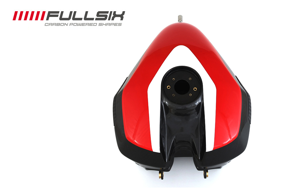 FULLSIX(フルシックス) ドライカーボン製 カーボンモノコックフューエルタンク レッド DUCATI 1199Panagale(FULLSIXカラー)