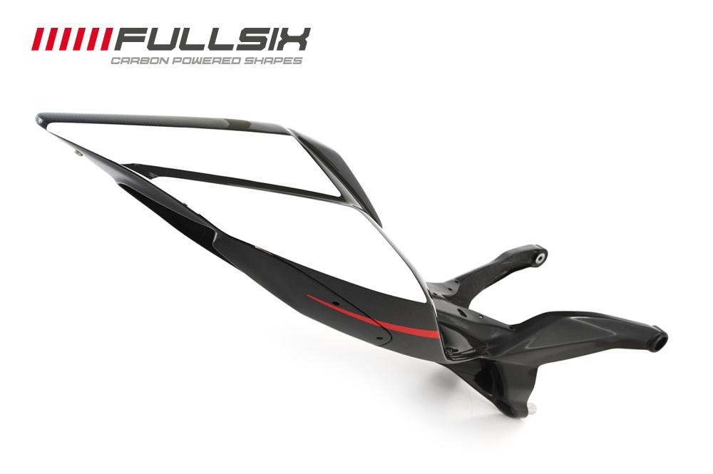 FULLSIX(フルシックス) ドライカーボン製 カーボンモノコックシートレール一体型カウル(レース用)ホワイト DUCATI 1199Panagale(FULLSIX)