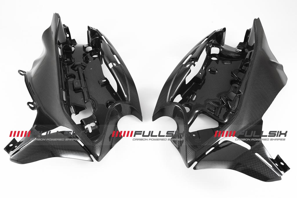 FULLSIX(フルシックス) ドライカーボン製 エレクトリックホルダーセット 一体型 DUCATI 1299/1199/959/899Panigale