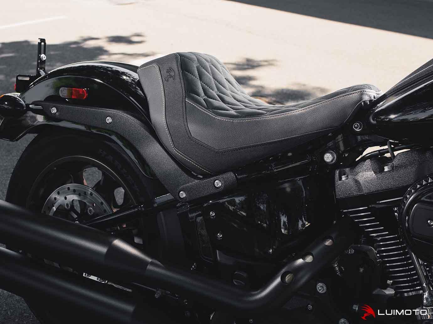 LUIMOTO (ルイモト) Hex-Diamond / フロントシート カバー Harley Davidson LOW RIDER S 16-20