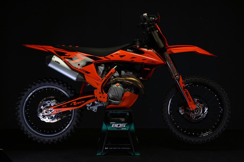 R-TECH(アールテック) テクノポリマー エンジンプロテクター KTM SX-F450 FACTORY EDITION (16-18) オレンジ