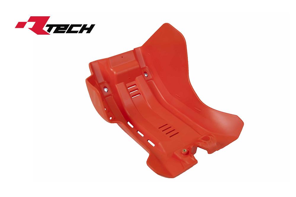 R-TECH(アールテック) テクノポリマー エンジンプロテクター KTM SX-F/XC-F450 (19-20) オレンジ
