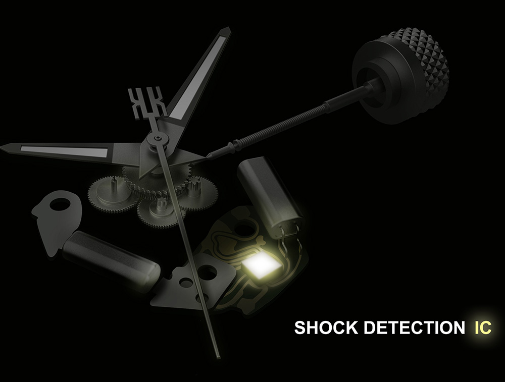 KENTEX (ケンテックス)MOTO-R 腕時計 3針 ブラックエディション グリーン