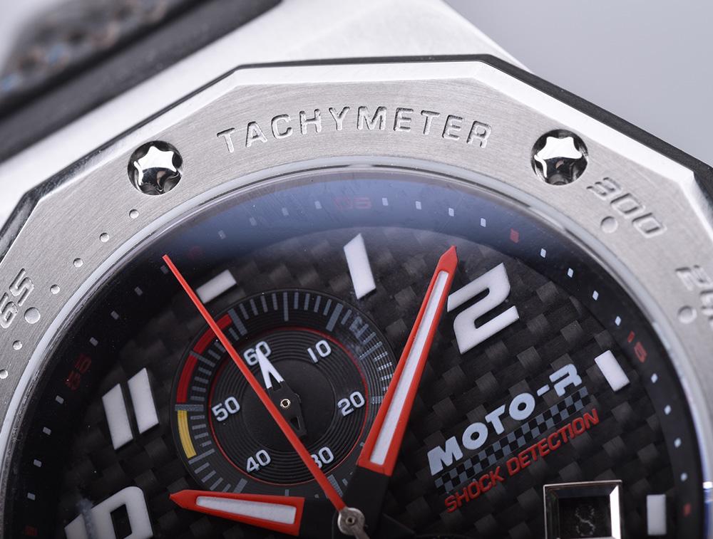 KENTEX (ケンテックス)MOTO-R 腕時計 クロノグラフ ブラックエディション グリーン