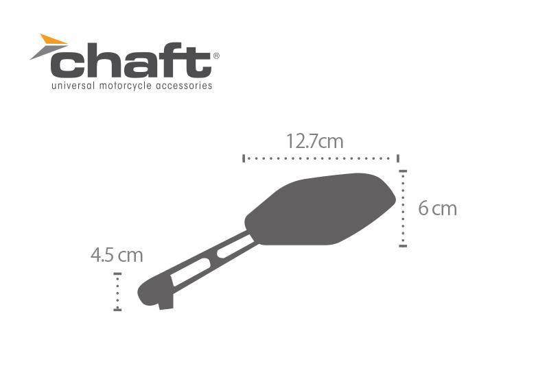 CHAFT チャフト ネイキッドミラー 汎用品(H19以降車検非対応)