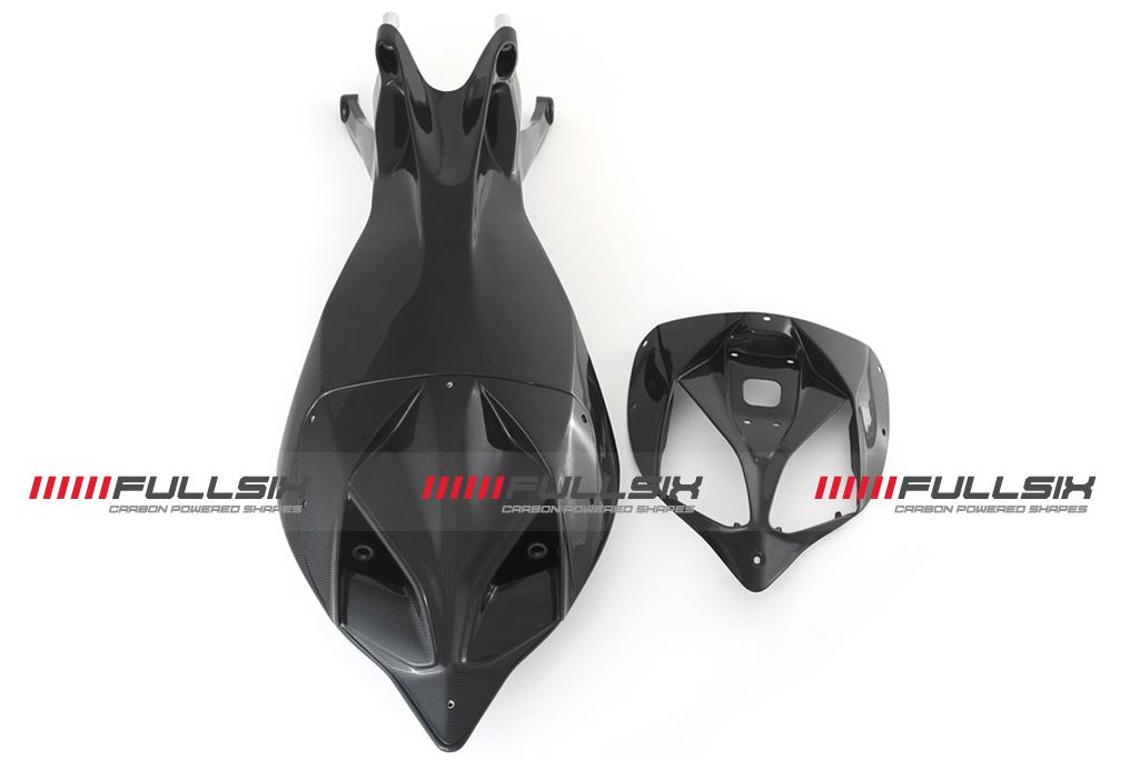 FULLSIX(フルシックス) ドライカーボン製 カーボンモノコックシートレール( レースカウル/ストリートカウル切り替えタイプ) DUCATI 1199/899 Panigale