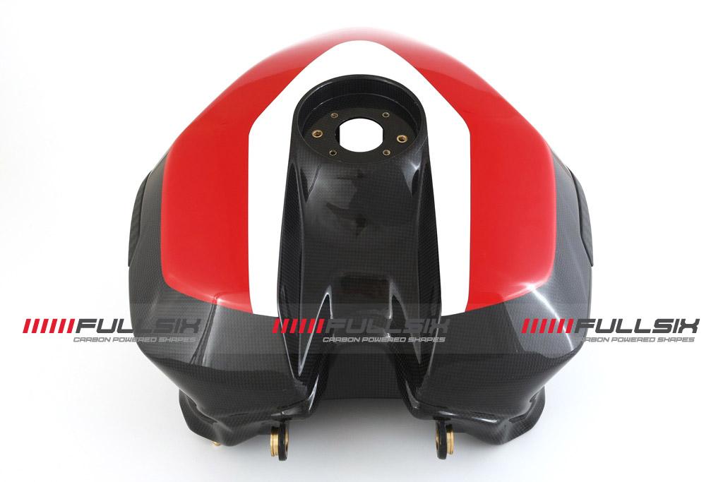 FULLSIX(フルシックス) ドライカーボン製 カーボンモノコックフューエルタンク オーバーサイズ25L レッド DUCATI 1199Panagale(FULLSIXカラー)