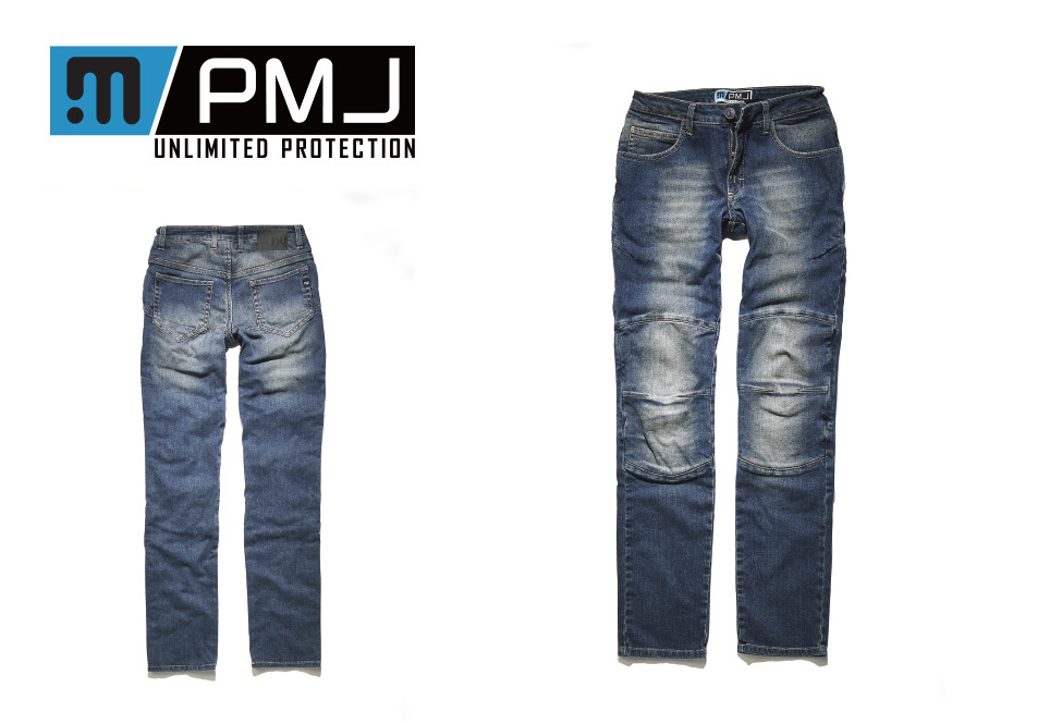 【送料無料】イタリア製 レディース バイク用デニム PMJ/PROmo jeans(プロモジーンズ)正規販売店 FLORIDA  12.5oz