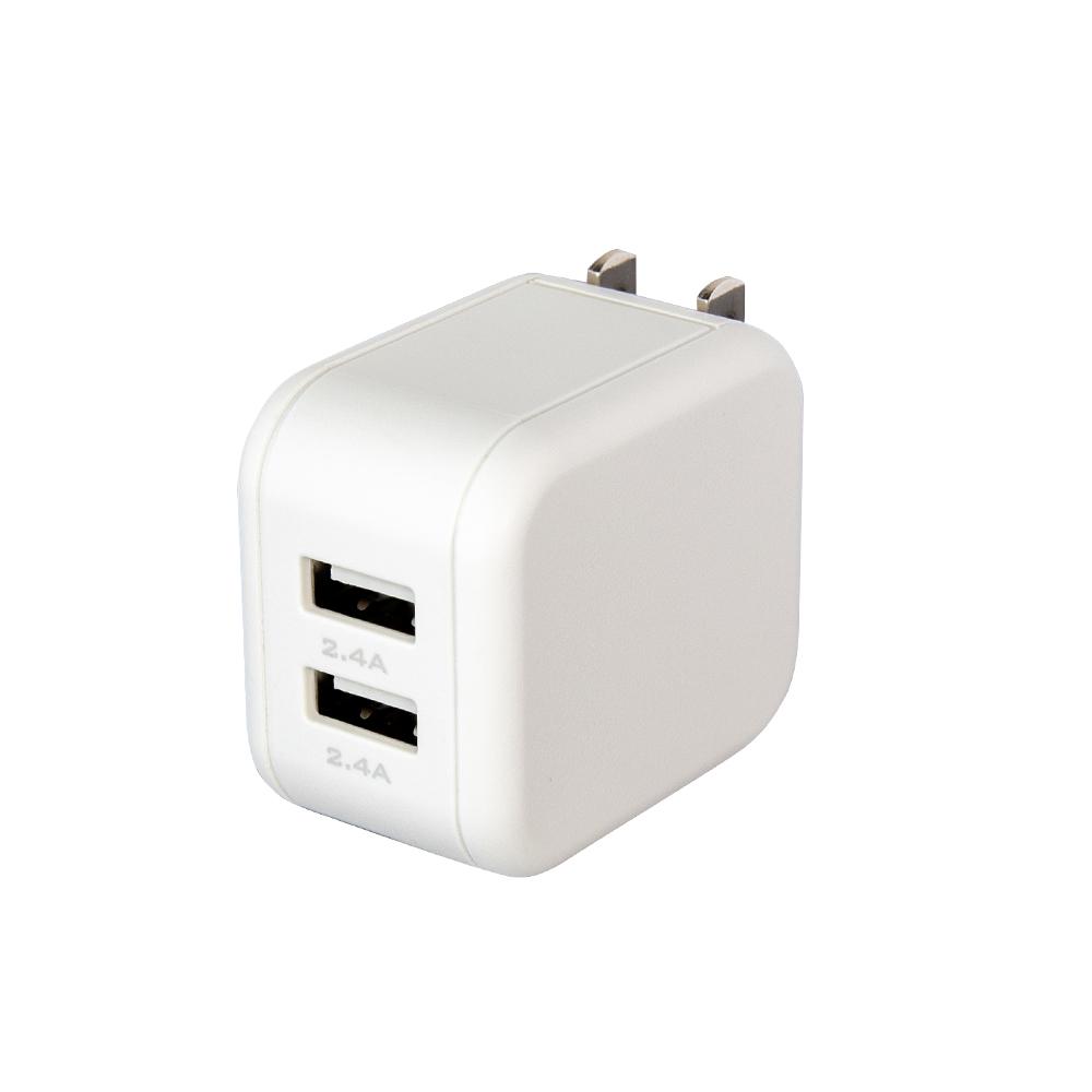 急速充電対応 USB Type-A×2ポートAC充電器合計4.8A(2.4A+2.4A)出力 2台同時充電 2年保証(MOT-AC48U2)