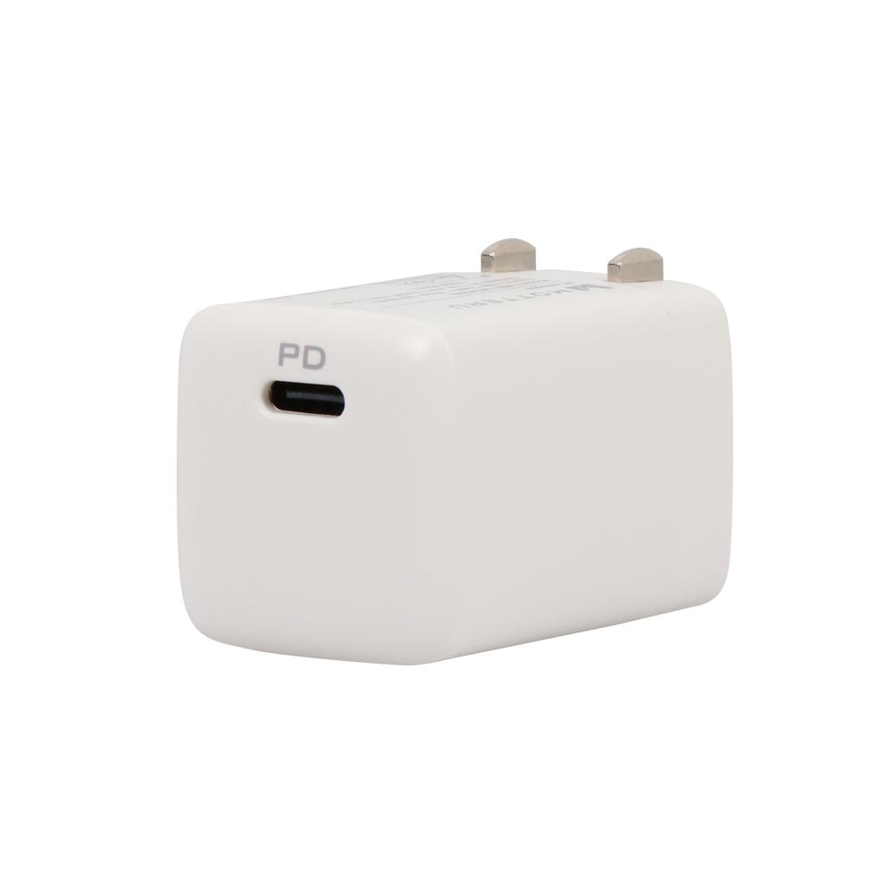 軽量&コンパクト PD20W USB Type-CポートAC充電器 急速充電対応 2年保証(MOT-ACPD20)