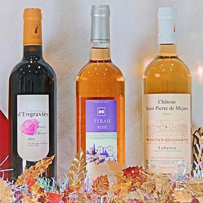 他では飲めない!小さな村のフランスワイン・白ロゼ赤3本セット