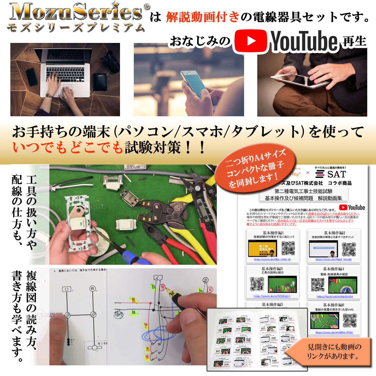 第二種用 【工具付き】  電線器具<br>ダブルセット 電線1回分と器具一式<br>2020年版