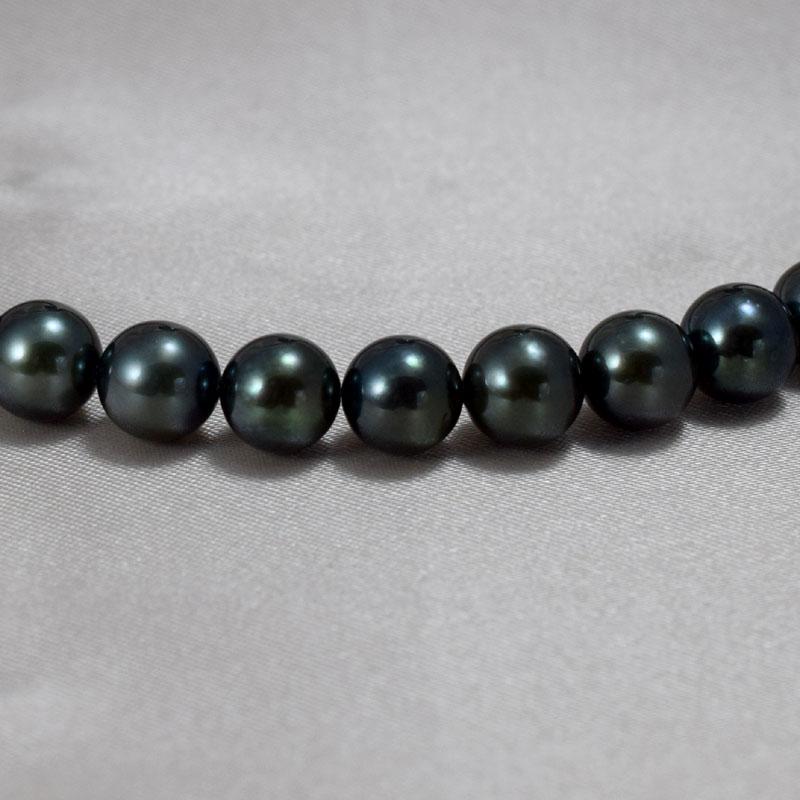 アコヤ黒処理真珠ネックレス・イヤリングセット