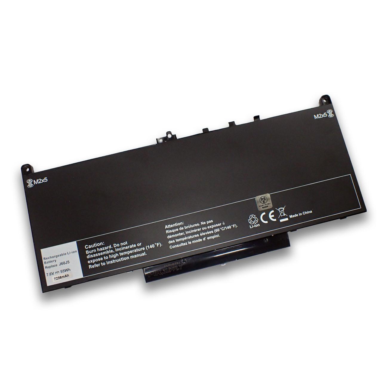 【全国送料無料】Dell デル Latitude 12 (E7270) 14 (E7470) 交換用バッテリー J60J5 1W2Y2 242WD MC34Y 対応