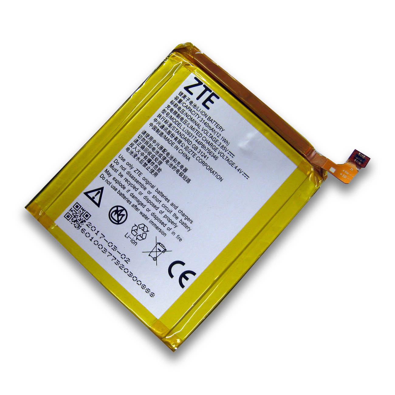 【全国送料無料】ZTE AXON 7 SIMフリースマートフォンバッテリー Li3931T44P8H756346