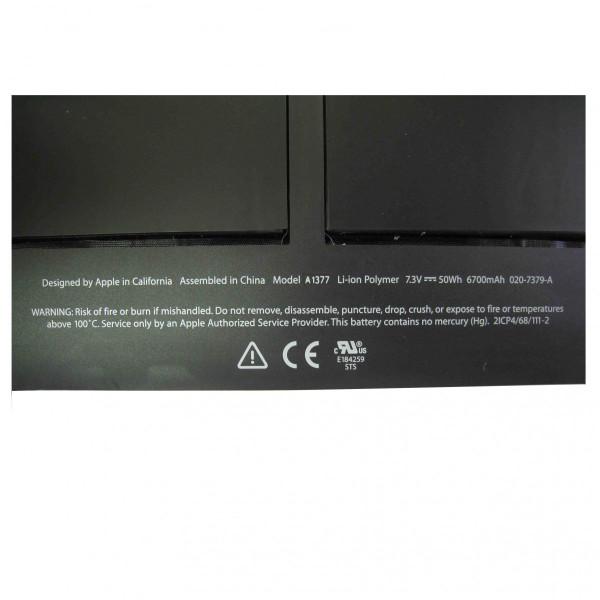 """【全国送料無料】Apple純正 アップル MacBook Air 13"""" A1369 (Late 2010) MC503J/A MC504J/A バッテリー A1377 工具付属"""
