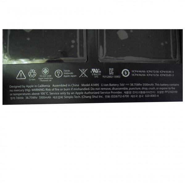 """【全国送料無料】Apple純正 アップル MacBook Air 11"""" A1465 (2013/2014) MD711J/A MD712J/A バッテリー A1495 工具付属"""