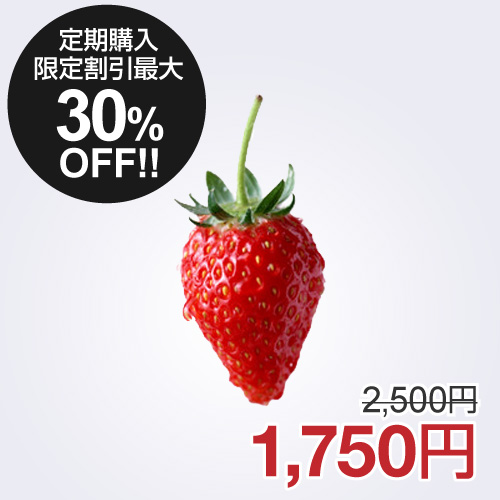 【通常購入と定期購入商品】【割引あり、期間制限なし】イチゴ 定期購入商品