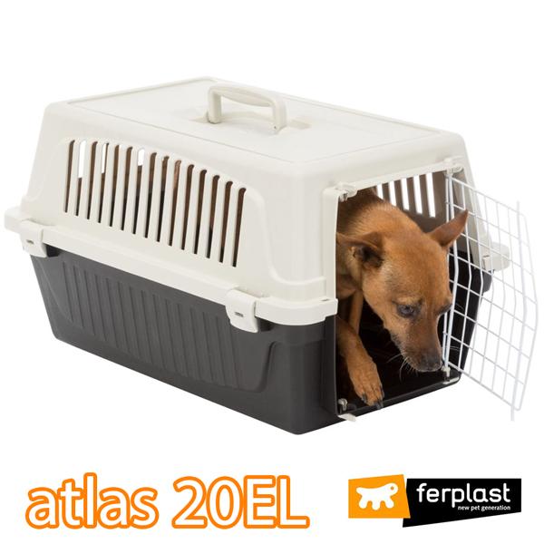 組立発送 イタリアferplast社製 アトラス 20EL キャリー WH/BK Atlas 耐荷重8kgまで 猫 小動物 ペット用 通院 外出 おでかけ 旅行