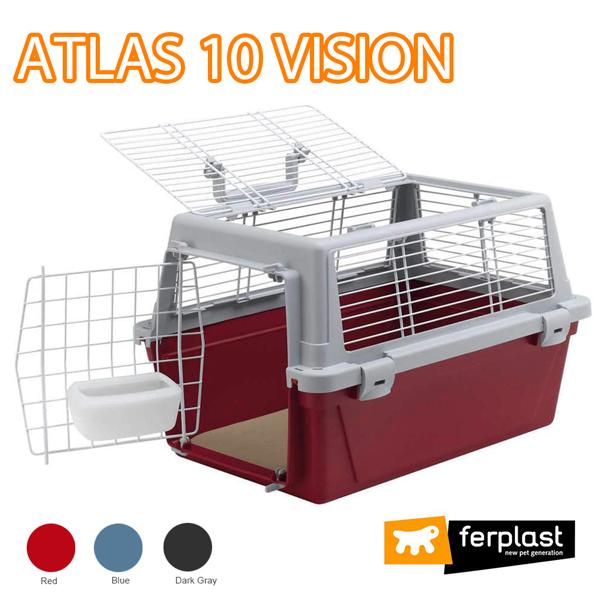 組立発送 イタリアferplast社製 アトラス ビジョン 10 キャリー ATLAS 10 VISION 犬 猫 ペット用 通院 外出 おでかけ 旅行