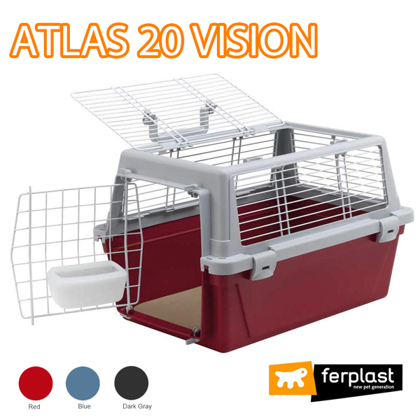 組立発送 イタリアferplast社製 アトラス ビジョン 20 キャリー ATLAS 20 VISION 犬 猫 ペット用 通院 外出 おでかけ 旅行