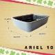 猫用快適 イタリアferplast社製 ARIEL 10 アリエル グレー キャットトイレ 猫 トイレ