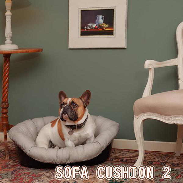 イタリアferplast社製 犬用プラスチックベッド シエスタDX2専用クッションカバー ソファ クッション 2 グレーベージュ