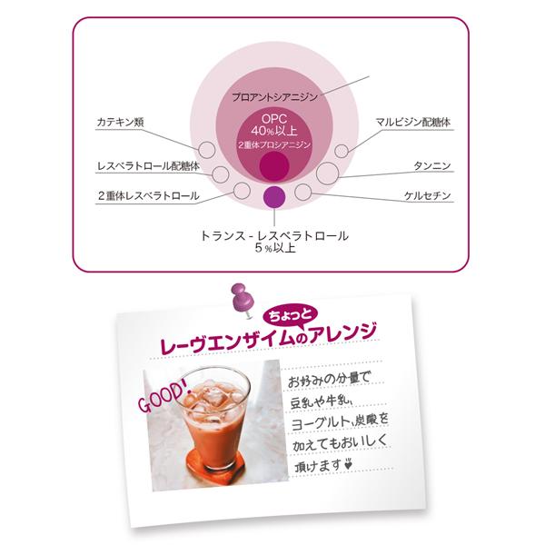 お試しキャンペーン!日本製 Reve Enzyme レーヴエンザイム 赤ワインエキスR5 75種植物性酵素 50ml