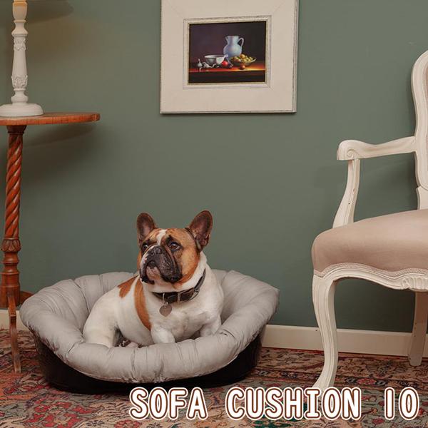 イタリアferplast社製 犬用プラスチックベッド シエスタDX10専用クッションカバー ソファ クッション 10 グレーベージュ