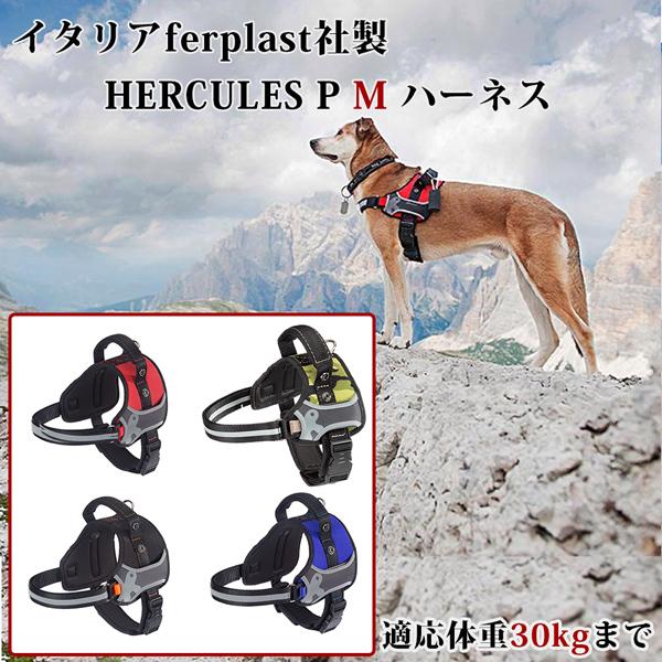 イタリアferplast社製 HERCULES P M ハーネス 適応体重30kgまで さんぽグッズ 散歩用品 お出かけ お散歩グッズ  介護